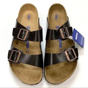 Birkenstock New Sandals Brown Leather Size 12